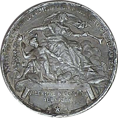 THIRD REICH SILVERED MEMORY TOKEN GERMANY EXONUMIA MEDAL 4.-5.JULI 1936